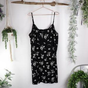TORRID floral stretch Challis slip dress black 650